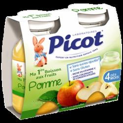 Picot Ma 1ère Boisson aux Fruits Pomme, 2x130ml