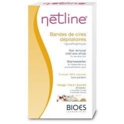 Netline Cire dépilatoire visage 10 bandes