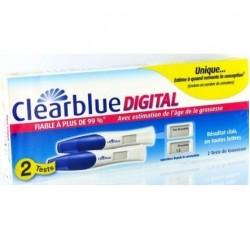 Clearblue Test de grossesse digital boite de 2 tests