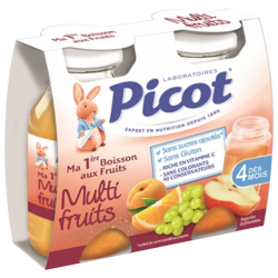 Picot Ma 1ère Boisson aux Fruits Multifruits, 2x130ml