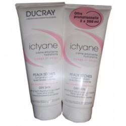 Ducray Ictyane Crème émolliente hydratante 2x200ml