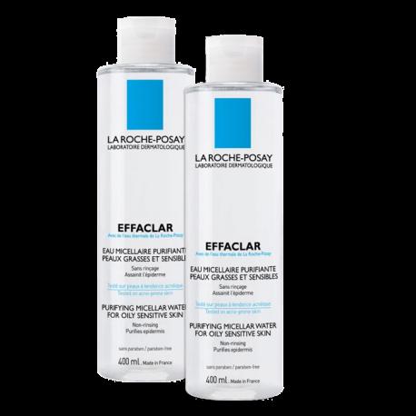 Effaclar eau micellaire purifiante, 2x400ml