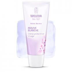 Weleda Bébé Derma Crème protectrice visage mauve blanche 50ml