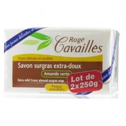 Rogé Cavaillès Savon surgras extra doux amande verte 2x250g