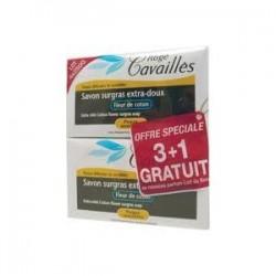 Rogé Cavaillès Savon surgras extra doux fleur de coton 4x250g