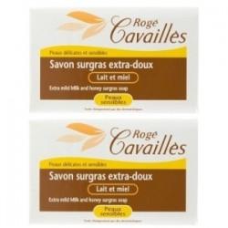 Rogé Cavaillès Savon surgras extra doux lait et miel 2x250g