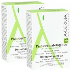 A-Derma Pain dermatologique 2x100g