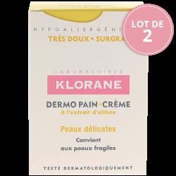 Klorane Dermo-pain crème peaux délicates 2x100g