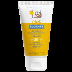 Klorane Enfant Lait solaire visage et corps SPF50+ 75ml