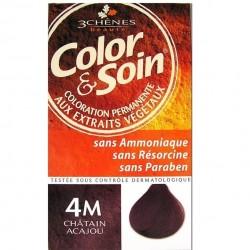 3 Chênes Color & Soin coloration châtain acajou 4m