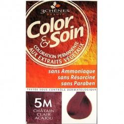 3 Chênes Color & Soin coloration châtain clair acajou 5m