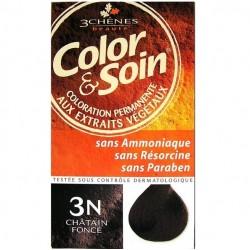 3 Chênes Color & Soin coloration châtain foncé 3n