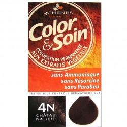 3 Chênes Color & Soin coloration châtain naturel 4n