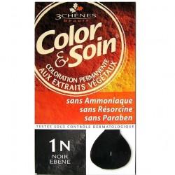 3 Chênes Color & Soin coloration noir ébène 1n