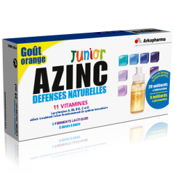 Azinc Défenses naturelles Junior Goût orange 5 unidoses