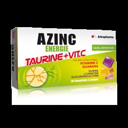Azinc énergie taurine + vitamine c 30 comprimés à croquer