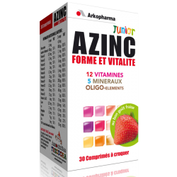 Azinc Optimal Junior Parfum fraise 30 comprimés à croquer