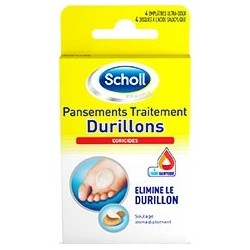 Pansements coricides durillons 2 emplâtres + 2 disques coricides