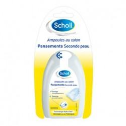Scholl Pansements seconde peau ampoules aux talons 5 pansements