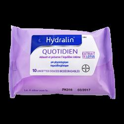 Hydralin Quotidien Lingettes douces 10 unités