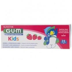 Gum Dentifrice kids fraise enfant 2/6 ans 50ml