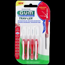 Gum Trav-Ler Brossettes interdentaires 1314 0.8mm 4 unités
