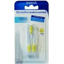 Inava Brossettes 2.5 à 2.2mm jaune 3 recharges