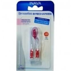 Inava Brossettes 4 à 3mm rouges 3 recharges