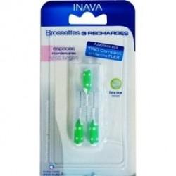Inava Brossettes 8 à 7mm vertes 3 recharges