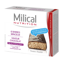 Milical Barre minceur chocolat 6 barres