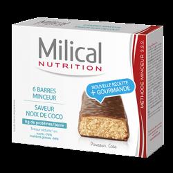 Milical Barre minceur chocolat noix de coco 6 barres