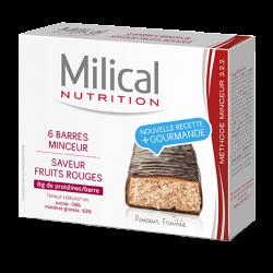 Milical Barre minceur fruits rouges 6 barres