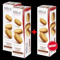 Milical Biscuits chocolat 12 unités 2+1 offert