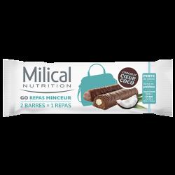 Milical Go repas minceur 2 barres chocolat coeur coco