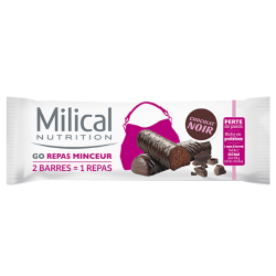 Milical Go repas minceur 2 barres chocolat noir