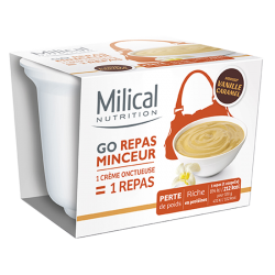 Milical Go Repas minceur express saveur vanille caramel 210g