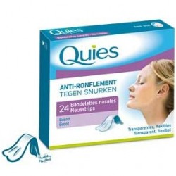 Bandelettes nasales anti-ronflement transparente grand x24