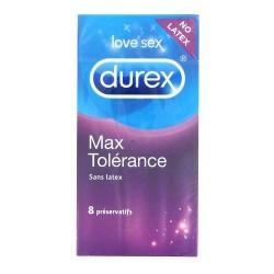 Durex Max tolérance sans latex 8 préservatifs