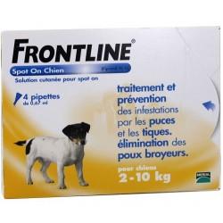 Frontline Spot-on chiens 2-10kg 4 pipettes de 0.67ml