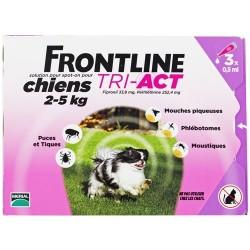 Frontline Tri-Act Spot-on chiens 2 à 5kg 3 pipettes de 0.5ml