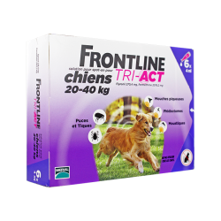 Frontline Tri-Act Spot-on chiens 20 à 40kg 6 pipettes de 4ml
