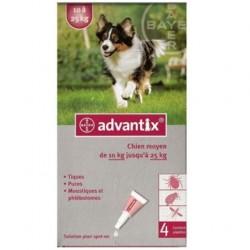 Advantix Antiparasitaire externe moyen chien 4 pipettes