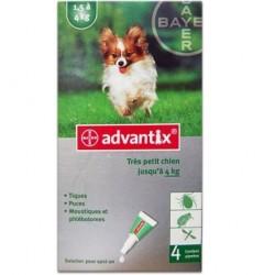 Advantix Antiparasitaire externe très petit chien 4 pipettes