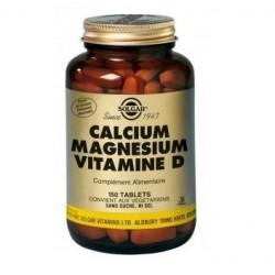 Solgar Calcium magnésium vitamine d- 150 comprimés