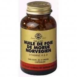 Huile de foie de morue norvégien vitamines A et D 250 softgels