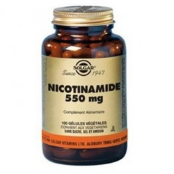 Solgar Vitamine b3 nicotinamide 550mg 100 gélules végétales