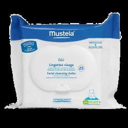 Mustela Bébé Lingettes visage Haute tolérance 25 lingettes