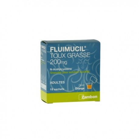 Fluimucil Expectorant Acetylcysteine 200 Mg Adultes 18 Sachets