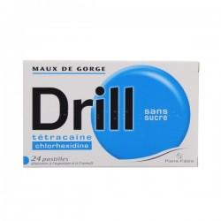 Drill Sans Sucre 24 Pastilles édulcorées aspartam isomalt