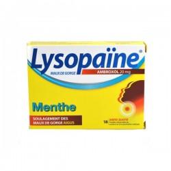 Lysopaïne Ambroxol Menthe 20 Mg Sans Sucre 18 Pastilles
